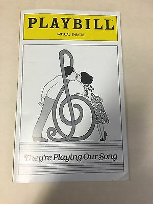 They're Playing Our Song Playbill/robert Klein-Lucie Arnaz /august '79/vg Cond