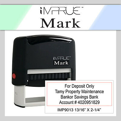 Custom 9013  FOR DEPOSIT ONLY 4 LINE Self-Inking Rubber Stamp