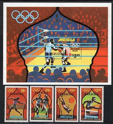 BARBUDA MNH 1980 SG489-93 Olympic Games Moscow