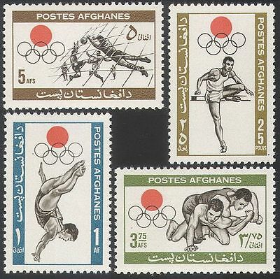 Afghanistan 1964 Sports/Football/Olympics/Olympic Games/Diving 4v set  n26236
