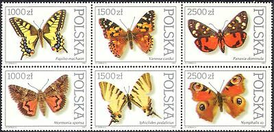 Poland 1991 Butterflies/Insects/Nature/Conservation/Butterfly 6v blk (b947)