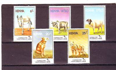 a131 - KENYA - SG637-641 MNH 1995 PREVENTION OF CRUELTY TO ANIMALS
