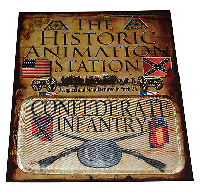 American Civil War CSA Confederate Infantry Historical Patch In Carded Pack NEW