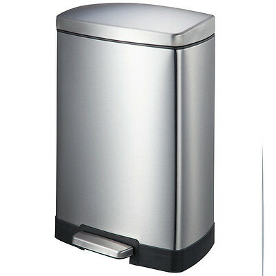 JoyWare Stainless Steel 3.17 Gallon Step On Trash Can JYWR1004