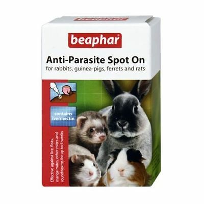 Beaphar Anti Parasite  Spot On Rabbit Guinea pigs Ferrets Wormer Lice Fleas