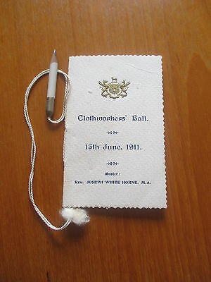 1911 Clothworkers Hall  Programme Valse Engagements With Pencil
