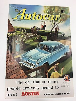 RARE 1955 AUSTIN Cambridge A40 - A50 A4 Vintage Colour Car Advert L16