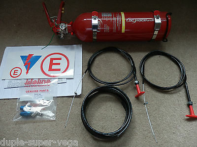 Race/Rally plumbed-in fire extinguisher