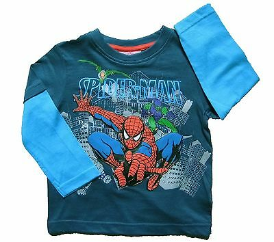 Boys Spider-man Long Sleeved Top 18-24 months RRP 9.50 Green Goblin