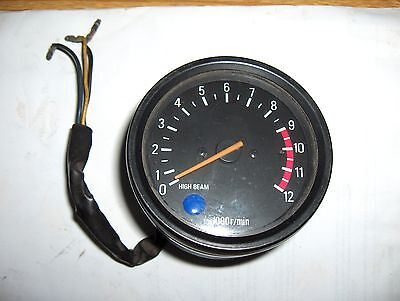 Yamaha Xs250 Xs400 Tachometer Rev Counter Tacho With Clock Cover/case