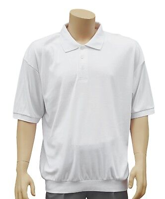 CATHEDRAL Mens Knitted Soft Short Sleeve Welted Hem Polo Top Size XXXL Marked