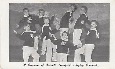 OLD P/C   A SOUVENIR OF FRANCIS LANGFORD'S SINGING SCHOLARS, GLASGOW  c1950's