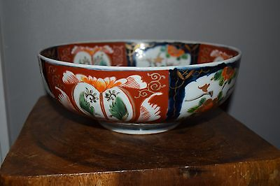 Antique Very Large Japanese Porcelain Imari Bowl