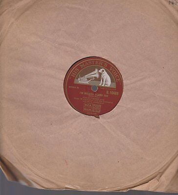 "Eddie Fisher Hold Me / I`m Walking Behind You 78 rpm 10"" Schellack His Master`s"
