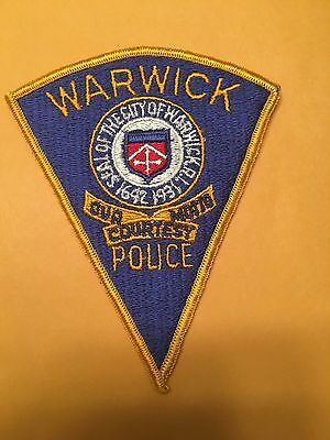 Warwick Rhode Island  Police  Shoulder Patch