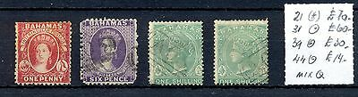 Bahamas  4  Stamps  Cv £ 174  - Mixed Quality -