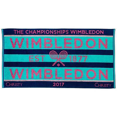 Christy Womens Wimbledon Championships Towel - NEW 2017 Tennis Tournament