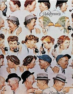 Norman Rockwell Address Book by Abbeville Press Spiral Book Free Shipping!
