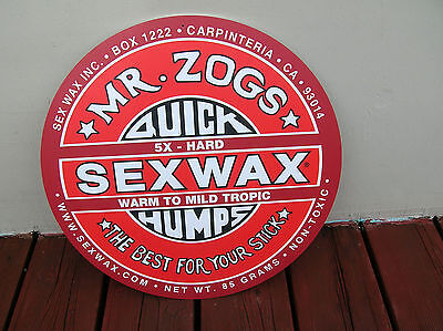 Large Zogs sex wax surfing surfboard longboard sign surfer collectors surf cool