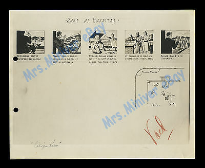 CITIZEN KANE Orson Welles 1941 ORIGINAL STORYBOARD BOOK PAGE with HAND NOTATION!