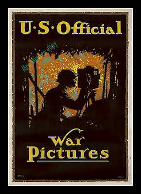1917 U.S. OFFICIAL WAR PICTURES 1-Sheet LOUIS FANCHER'S MASTERPIECE STONE LITHO!