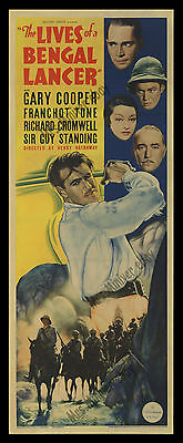 RARE Gary Cooper 1934 THE LIVES OF A BENGAL LANCER Movie Poster HENRY HATHAWAY!!