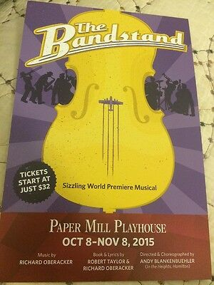 The Bandstand Pre Broadway Ad - Rare -  Paper Mill - Laura Osnes Corey Cott