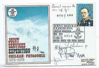 Joint Services Exp. Chile Correo Naval Punta Arenas 1973 with sign. Endurance
