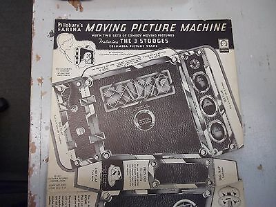 RARE 1937 Three Stooges Moving Picture Machine *Cardboard Projector  *NO MOVIES