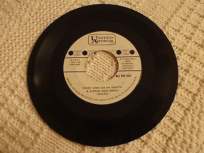 Dicky Doo And The Don'ts A Little Dog Cried/The Judge United Artists 362 Promo