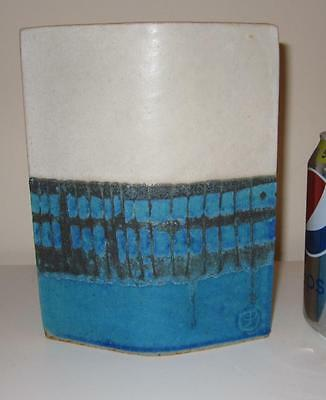 Unusual English Studio Pottery Vase with Seal Mark - Lucie Rie Style