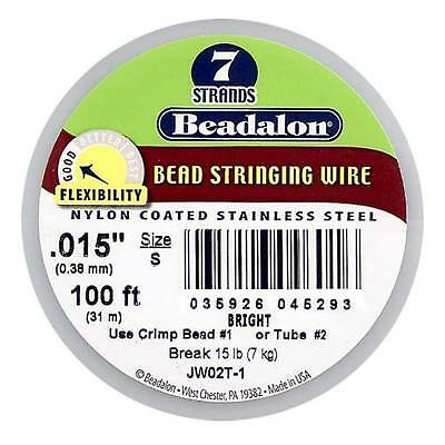 Beadalon Wire Standard Bright 7 Strand .015 In./ 100Ft