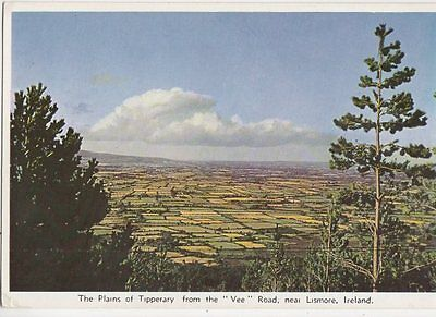 Plains Of Tipperary From Vee Road Lismore Ireland Old Postcard 0945