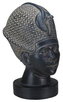 Egyptian Civilization Bust Of King Tut with Blue Crown Statue Display Figurine