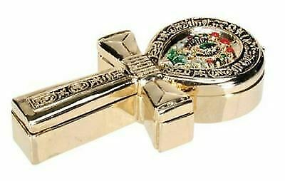 Egyptian Ankh Jeweled Box Collectible Egypt Jewelry Container