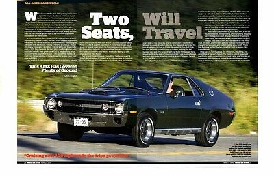 1970 Amc Amx 360/290 Hp ~ Great 4-Page Article / Ad