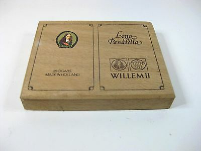 Vintage EMPTY LONG PANATELLA WILLEM 11 cigar box made in Holland
