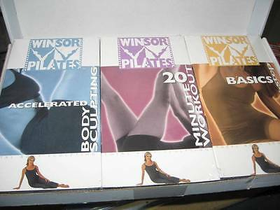 Brand New/Sealed  *WINSOR PILATES VHS TRIO* 20 Min Workout~Body Sculpting~Basics
