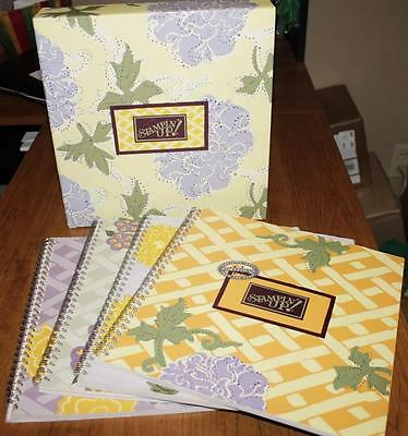 Rubber Stamping  *STAMPIN UP* 4 book Portfolio  NICE!   Craft ideas/instructions
