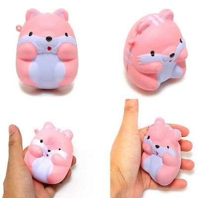 1Pc Funny Squishy I-Bloom Pom Pom Squeeze Relieve Anxiet Hamster Slow Rising Toy
