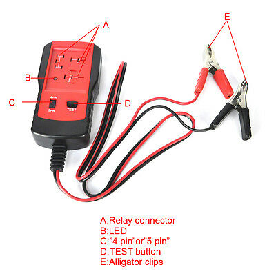 Electronic Automotive Relay Tester for 12V Cars Auto Battery Checker Universal