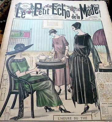 *VTG 1920s PARIS FASHION & SEWING PATTERN CATALOG LE PETIT ECHO de la MODE 1922