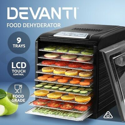 Devanti 5 Trays Food Dehydrator Commercial Fruit Dryer Jerky Maker Stainless