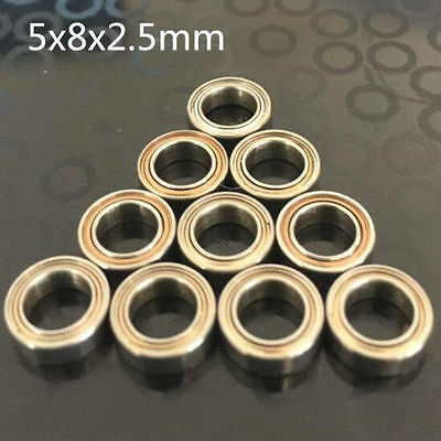 10pcs MR85zz 5x8x2.5mm Open Miniature Bearings ball Mini Hand Bearing Spinner ~