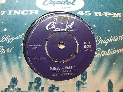 """Andy Griffith – Hamlet 1959 7"""" Capitol CL 15003"""