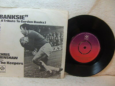 """Chris Renshaw with The Keepers – Banksie 1973 7"""" Pye 7N 45285 PS"""