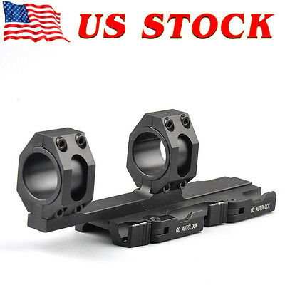 20mm Rail Heavy Duty 25mm-30mm Ring Cantilever Scope Mount QD Lock Picatinny US