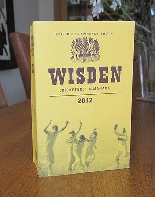 Wisden cricketers almanack 2012, soft cover. 149th year