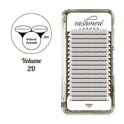 Cashmere Lashes Premade Russian Volume Lashes 2D Fans Lightest Flat Extensions