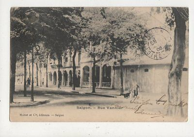 Saigon Rue Vannier French Indo China Vietnam 1908 Postcard 889a